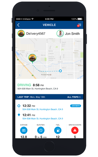 Information about your fleet is available in real-time.
