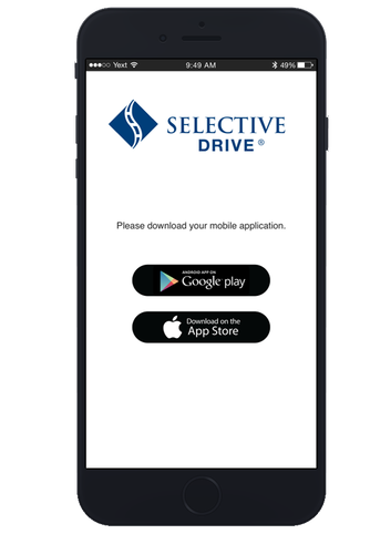 Verify the email used for your Selective® Drive account is correct.